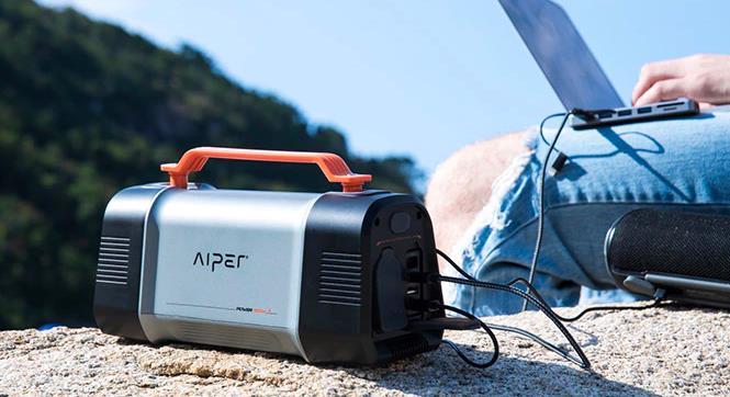 アウトドア大容量太陽光発電機AIPER FLASH 150W