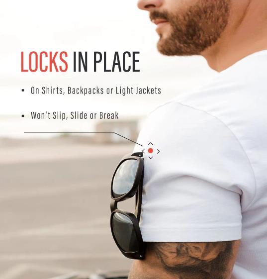 胸元にかけても落ちないサングラスKORE Neo-Lock