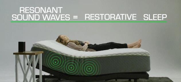 音波を使って疲れをケアするマットレスWaveform sleep