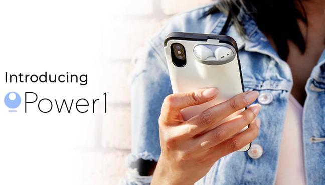 AirPodを充電するiPhoneケースPower1