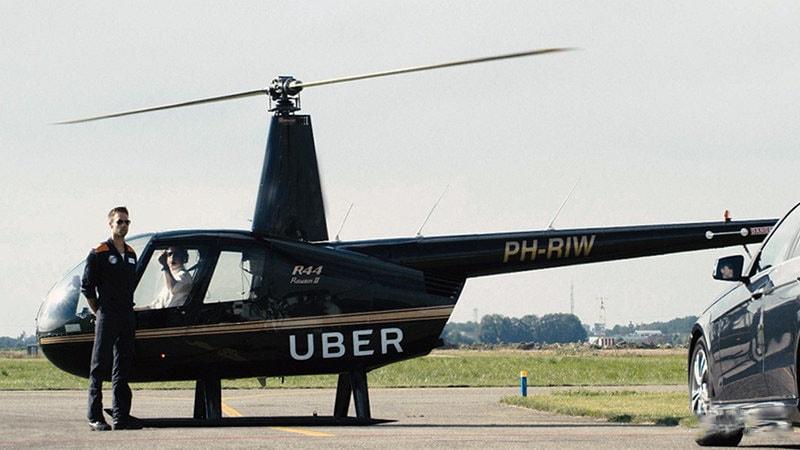 ヘリコプター予約サービスUber Copter開始