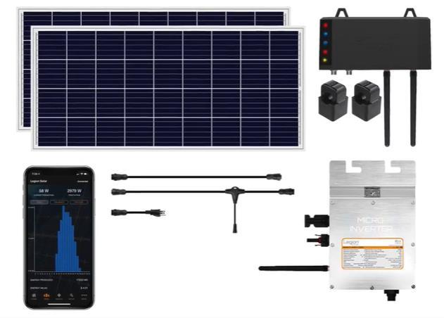 自宅簡単設置スマート太陽光パネルLegion Solar 4