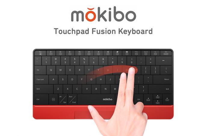 タッチパネル機能付きキーボードMokibo