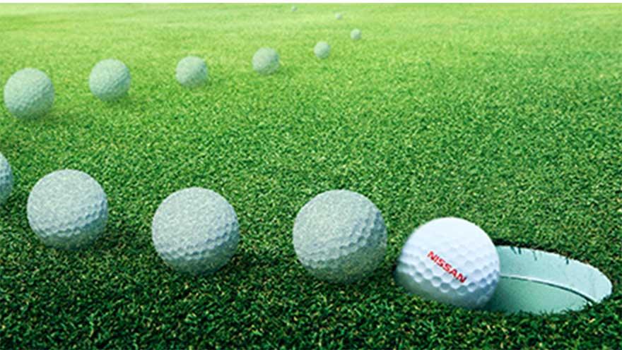 日産が出したパットで絶対入るゴルフボールProPILOT GOLF BALL