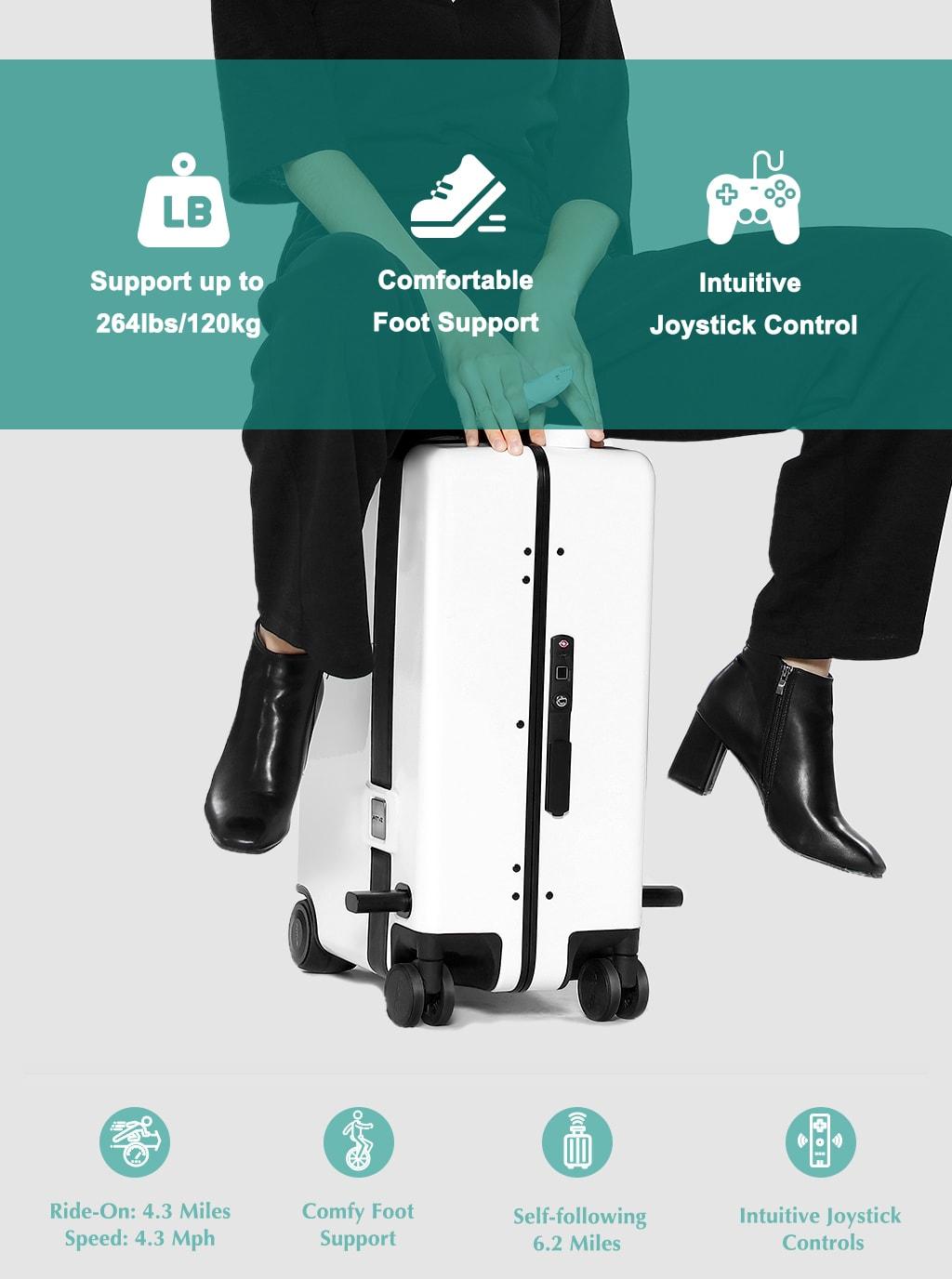 リモコン操作乗れるスマートスーツケースNAUCRATES