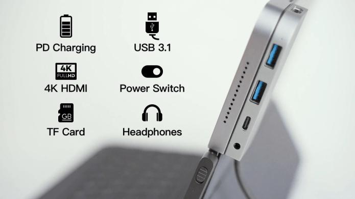 iPad&Macbookに一体かするUSB-CハブBoltHub Pro