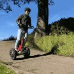 全地形に対応する2輪電動スクーターFutureGo