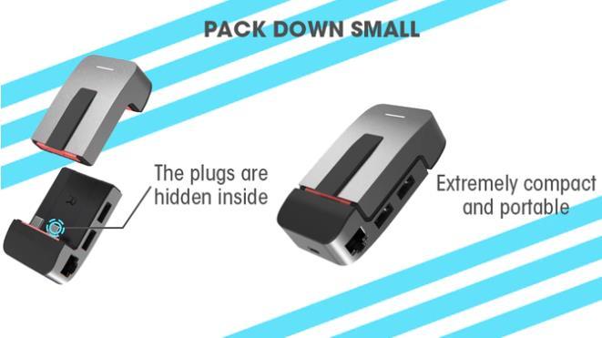 スタンドにもなるMacBook Pro用USB-CハブJoyDuo