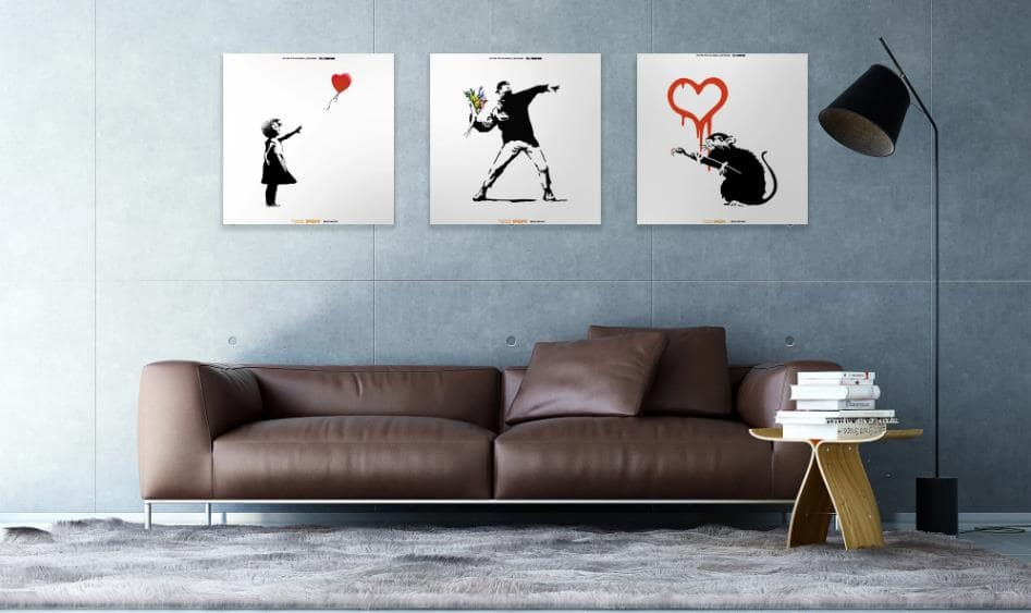 飾り絵にもなるスピーカーVisual Sonic-Banksy Edition